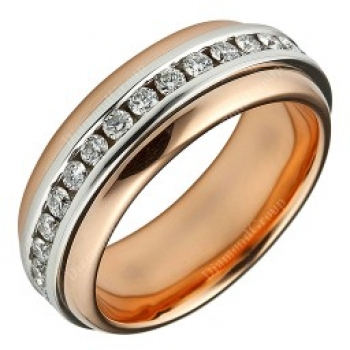 Memoiere Ring Rotgold Weißgold Brillant 1,02ct