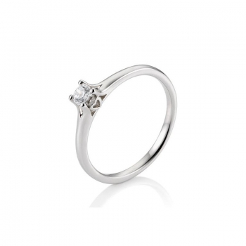 Platinring Solitaire Diamant Heart 0,25ct