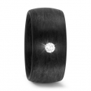 Carbon Ring mit Diamant